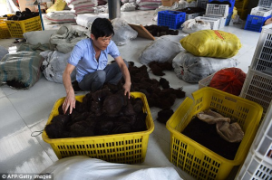 Taihe, in the eastern province of Anhui, specialises in the sale of hair and is big business for the region